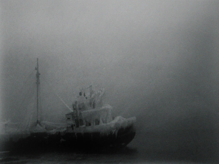 Film still from the sound installation work called Wreck Tapes